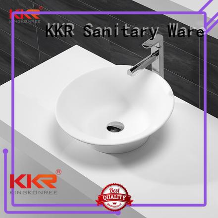 surface rectangle above counter basins white KingKonree company