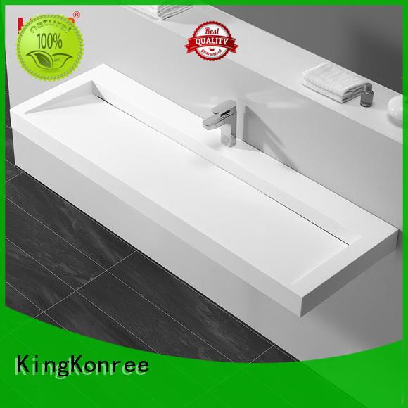 KingKonree free design solid surface basin for wholesale