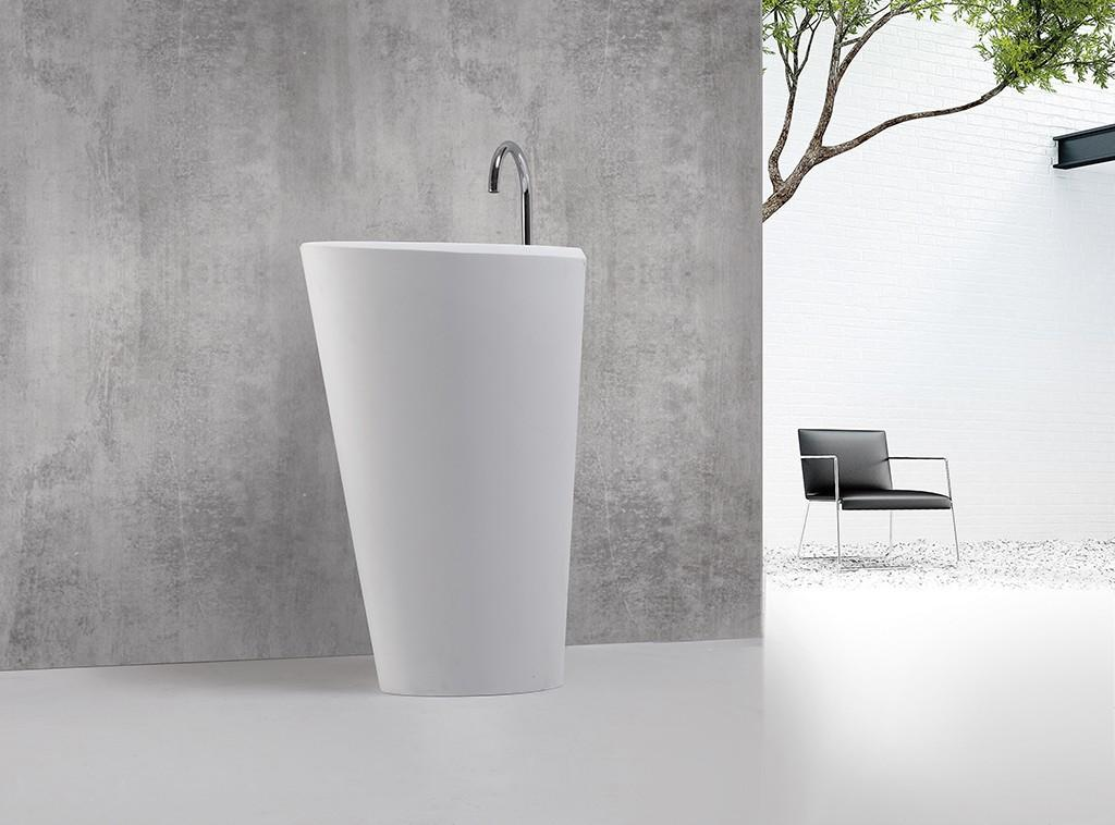 KingKonree rectangle freestanding pedestal sink manufacturer for hotel-1