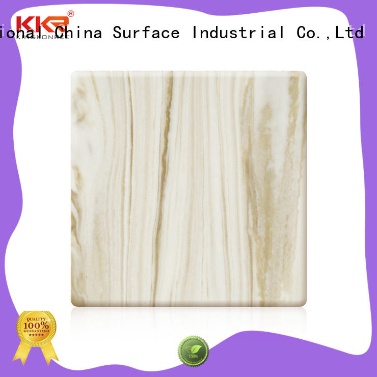 KingKonree pure solid surface sheets from China for hotel
