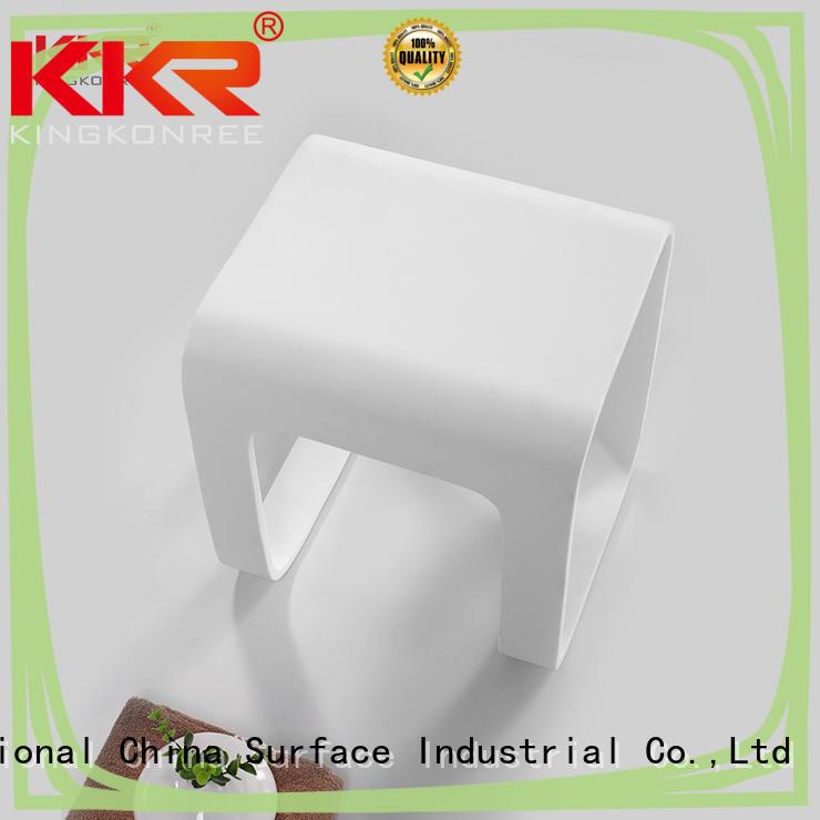 white acrylic bathroom stool stainless steel for home KingKonree