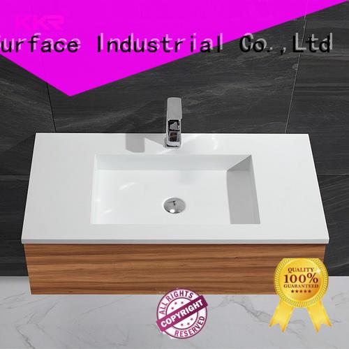 straight small basin with cabinet sinks for bathroom KingKonree