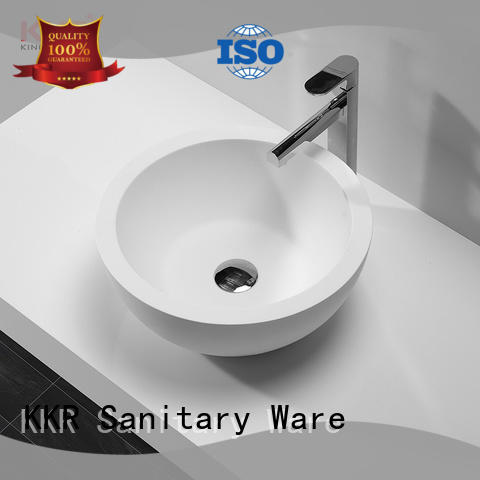 KingKonree white above counter vanity basin supplier for restaurant
