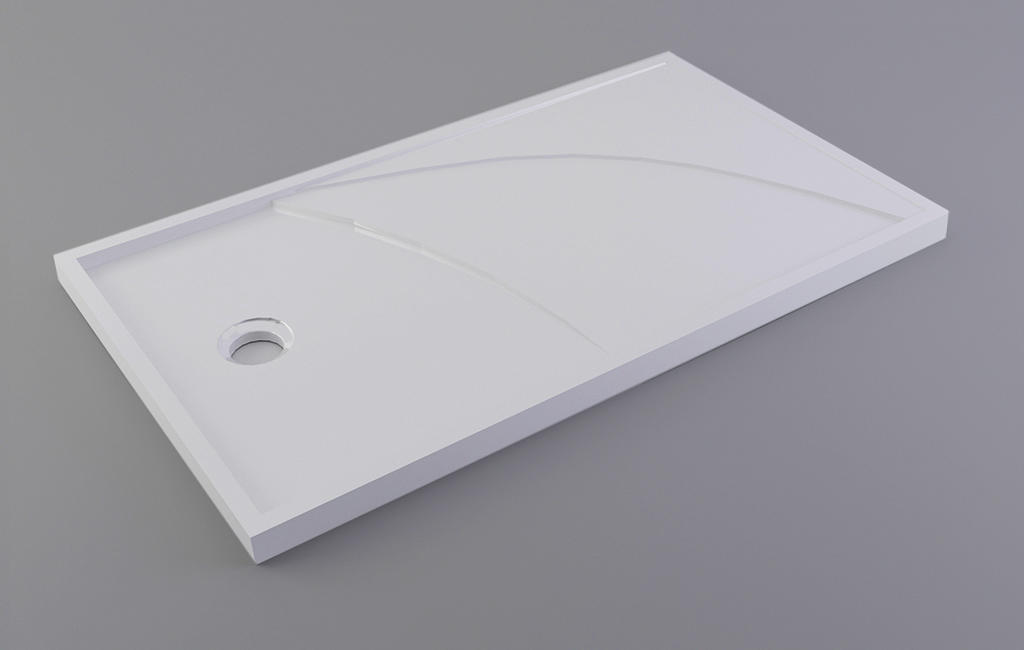 artificial square shower tray top for motel-2