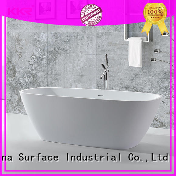 KingKonree hot-sale man made stone bathtub matt