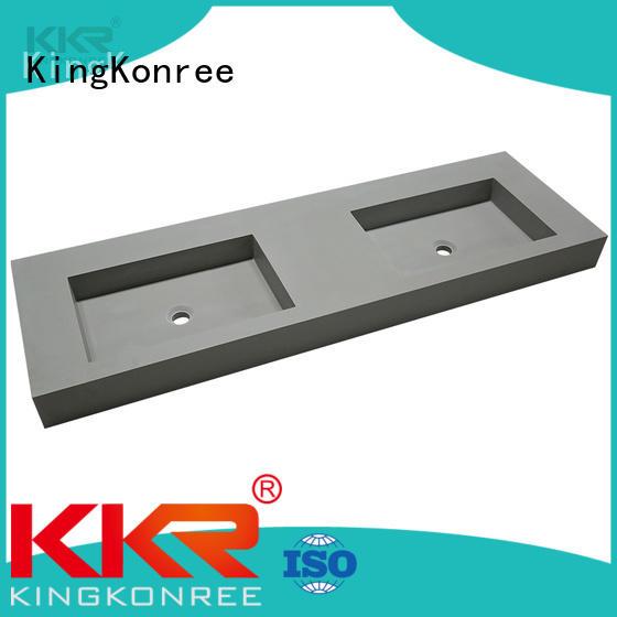 white square wall hung basin design for toilet KingKonree