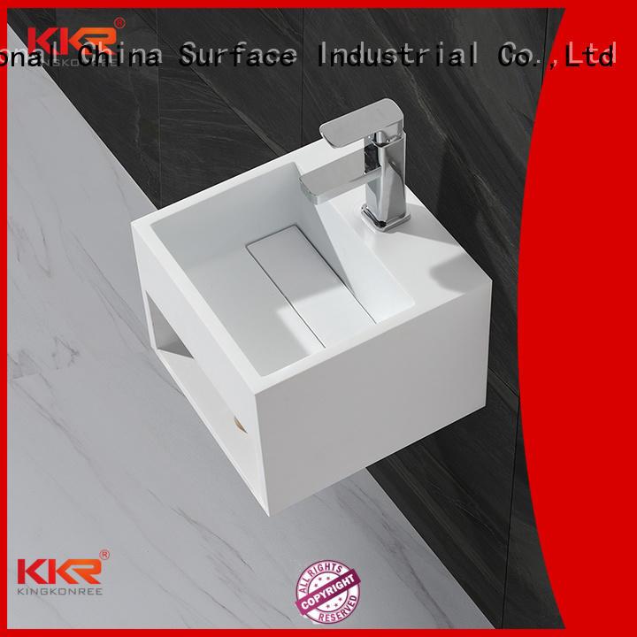 KingKonree Brand unique small surface wall mounted bathroom basin bath
