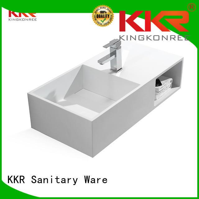 stone wall mounted wash basins acrylic ware KingKonree company