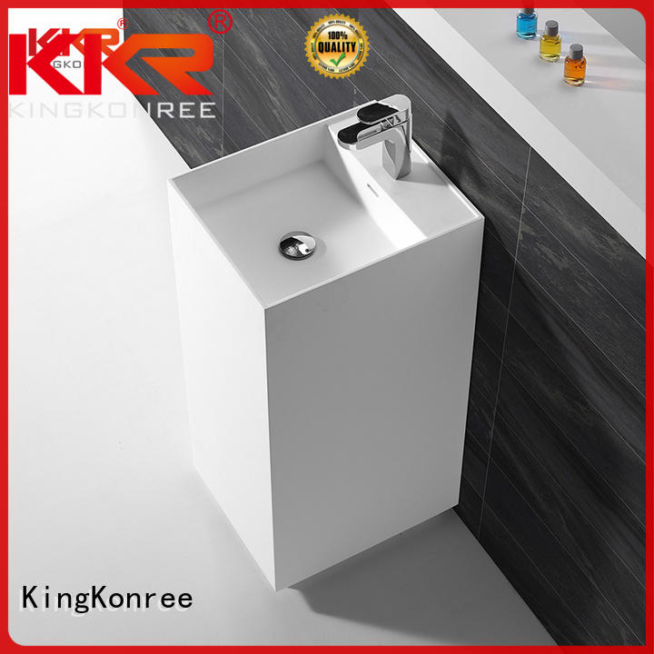 KingKonree high-end solid surface basin highly-rated for shower room