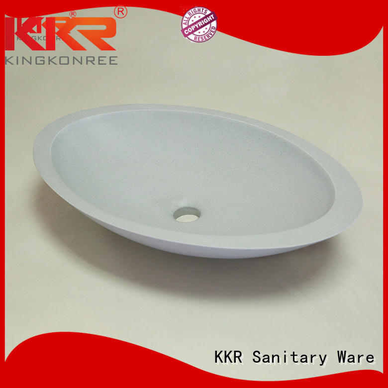 Hot kkr oval above counter basin acyrlic KingKonree Brand