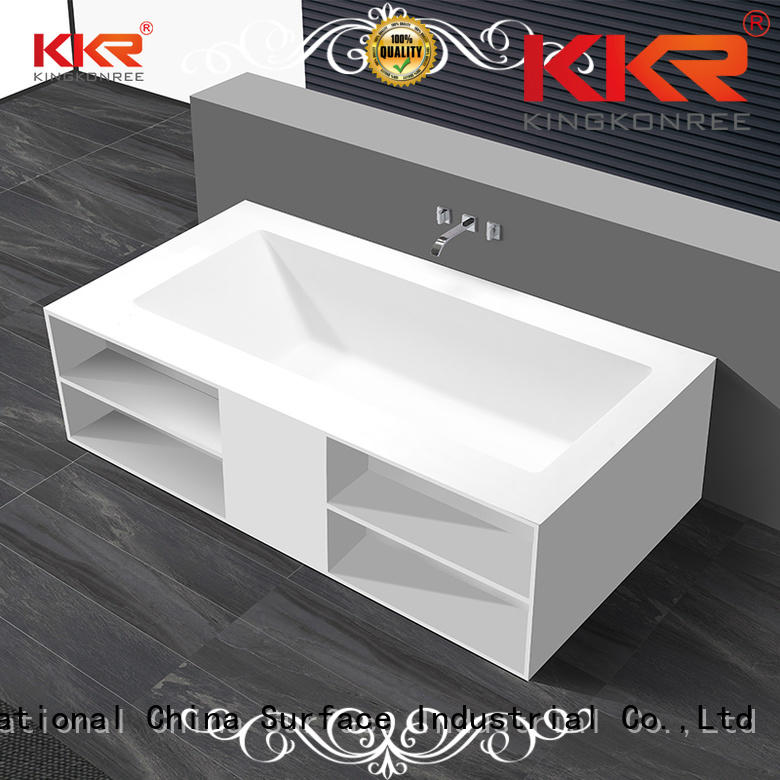 190cm matt diameter b008 solid surface bathtub KingKonree