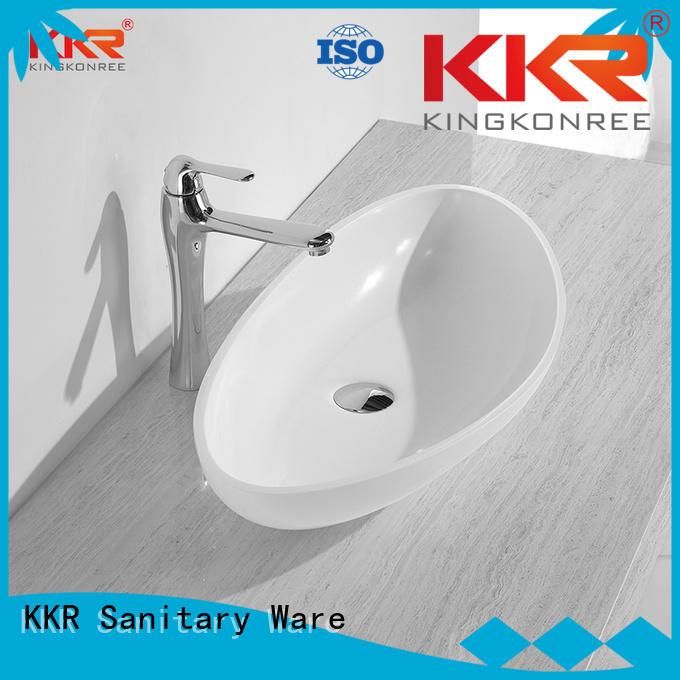 shape square basin surface oval above counter basin KingKonree Brand