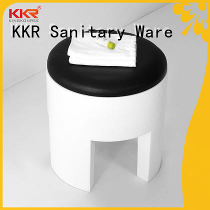 KingKonree white shower stool bulk production for hotel