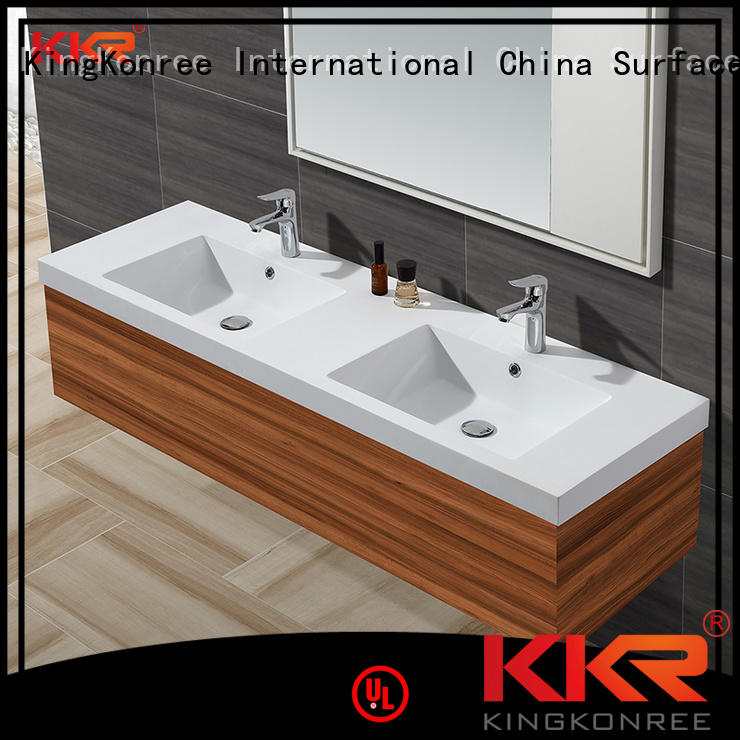 KingKonree Brand sanitary marble basin with cabinet price surface supplier