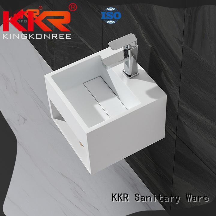 marble cheap wall hung basin resin for toilet KingKonree