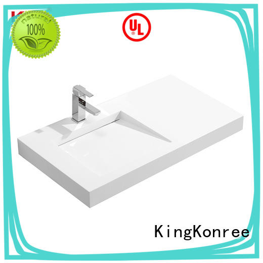 KingKonree unique wall hung basin manufacturer for toilet
