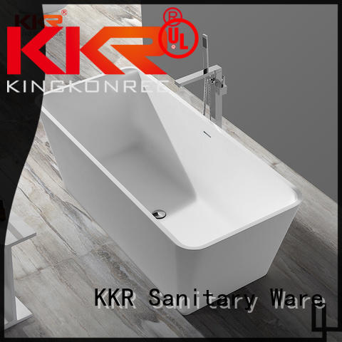solid surface freestanding tub finish for family decoration KingKonree